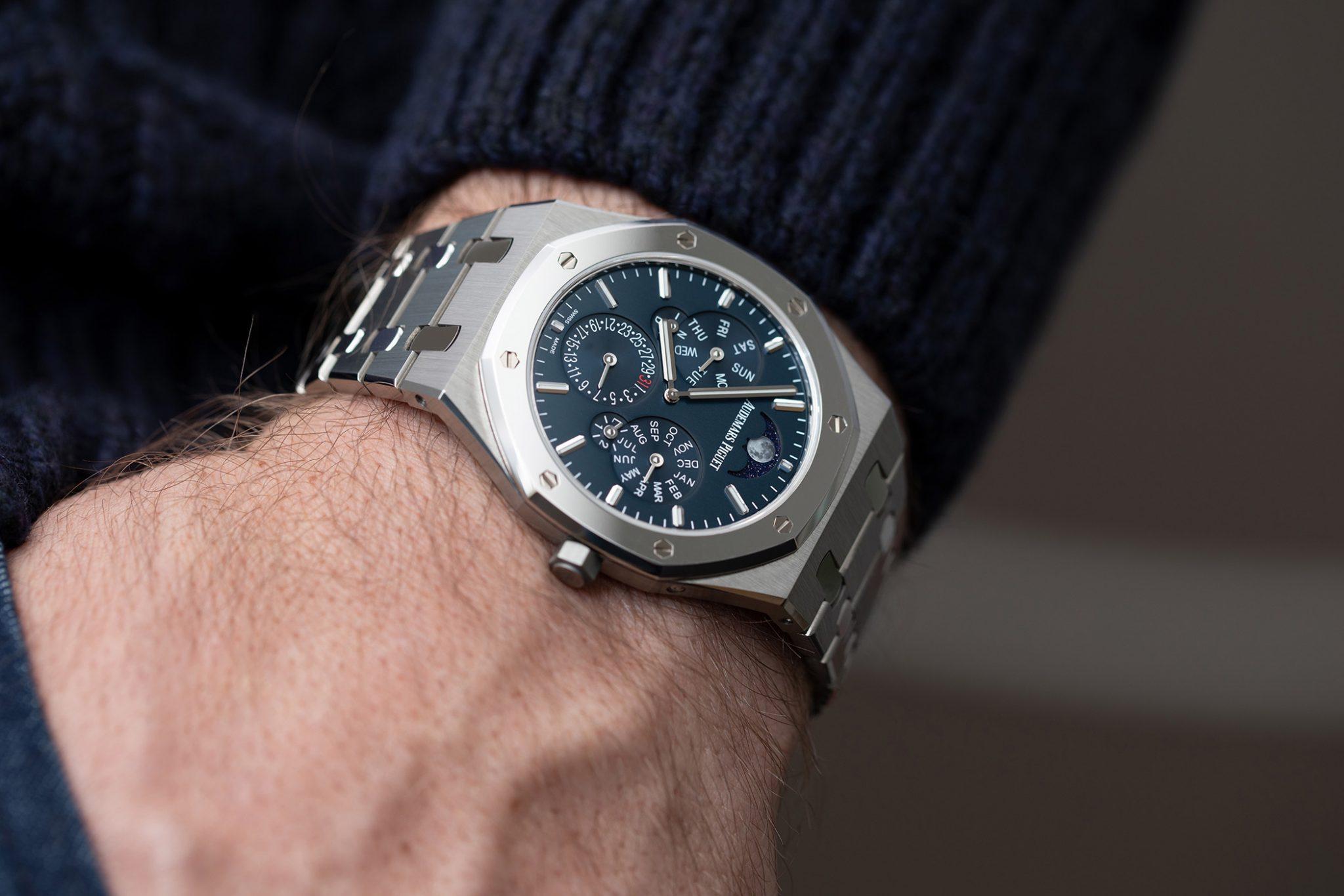 Pocketshot: The Audemars Piguet Royal Oak Selfwinding Perpetual Calendar Ultra-Thin 26586IP.OO.1240IP.01 on the wrist