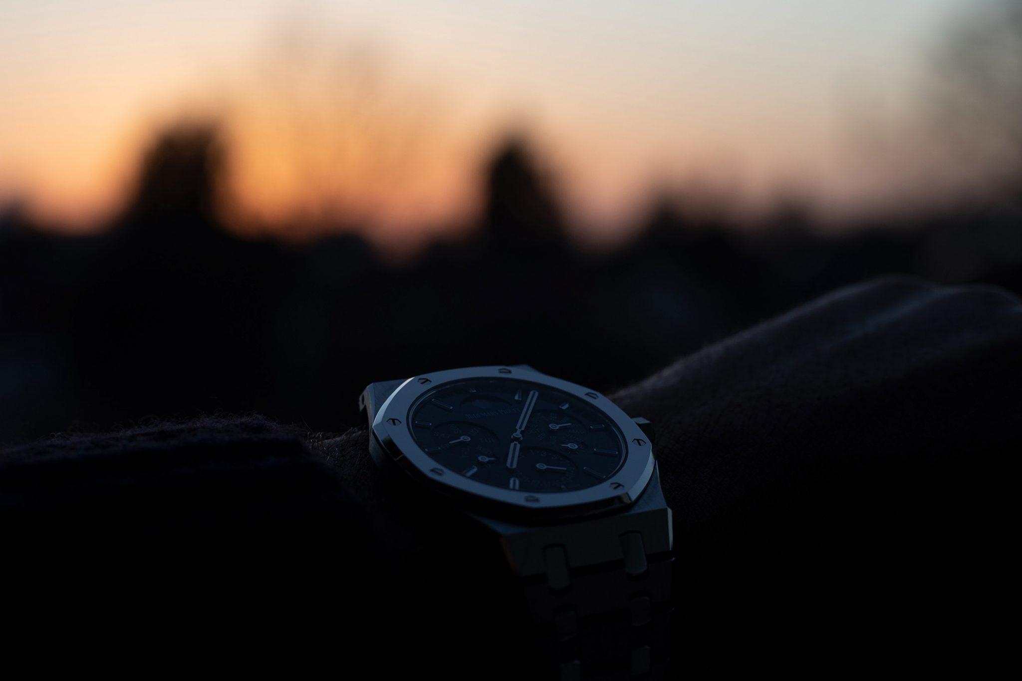 Sunset with the Audemars Piguet Royal Oak Selfwinding Perpetual Calendar Ultra-Thin 26586IP.OO.1240IP.01